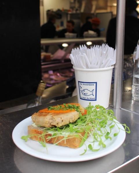 tuna sandwich fishbar noordzee brussels sugarsheet travel