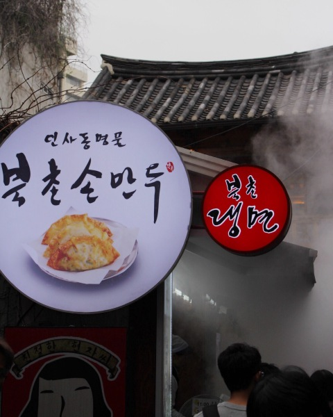 dumpling noodles insadong food seoul south korea vegan
