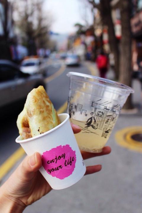 vegetarian seoul dessert street food travel south korea restaurant