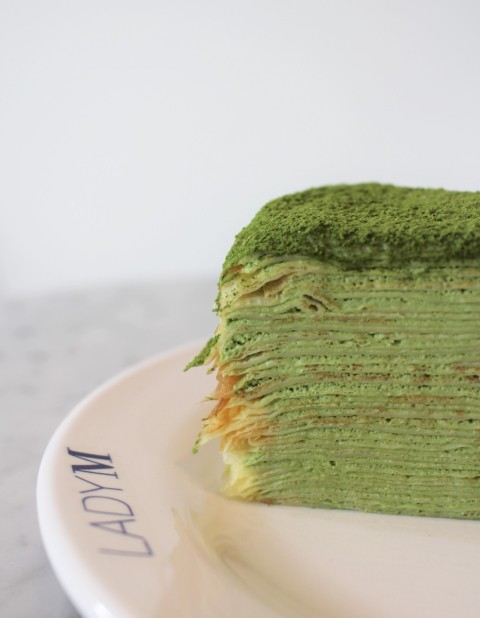 lady M green tea layer crepe cake matcha seoul south korea travel food gangnam
