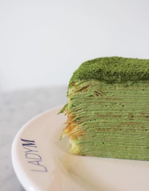 lady M green tea layer crepe cake matcha seoul south korea travel food gangnam
