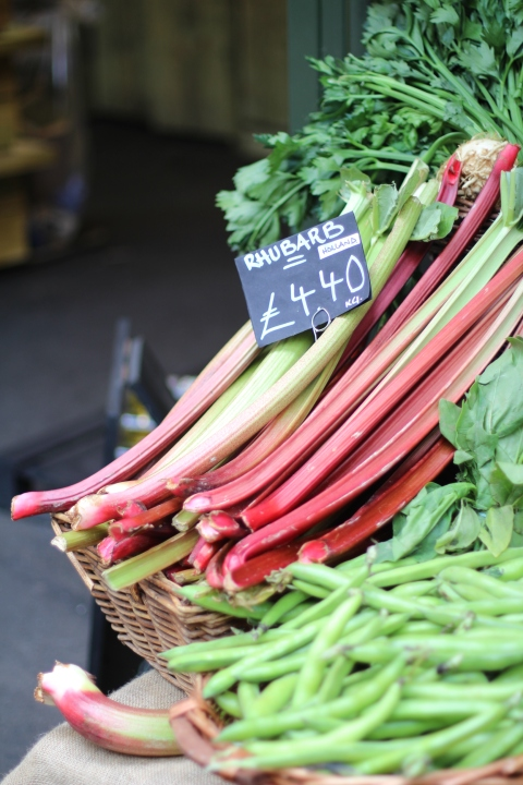 Borough market rhubarb fruits fresh london travel sugarsheet eat restaurants