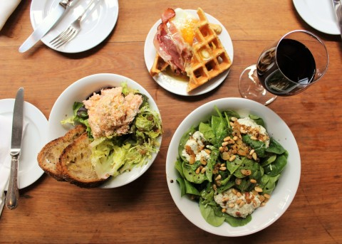 Buvette Paris pigalle Sugarsheet brunch Salad vegan wine apero French