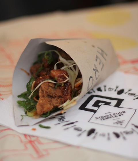 Carreau du temple Street Food Korean Sugarsheet Paris Le marais Hero Chicken