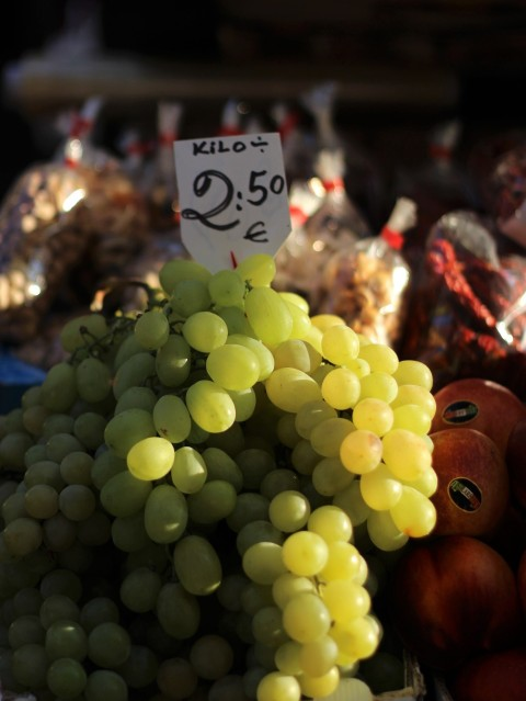 Venice italy market street rialto grape wine food fresh fruit