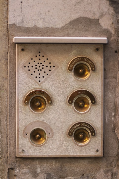 venice architecture interior detail sugarsheet doorbell ring antic italy