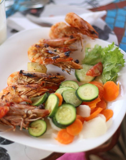 Sugarsheet Sobo Bade crevette shrimps seafood best senegal Dakar travel
